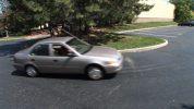 Car Turning in Lot